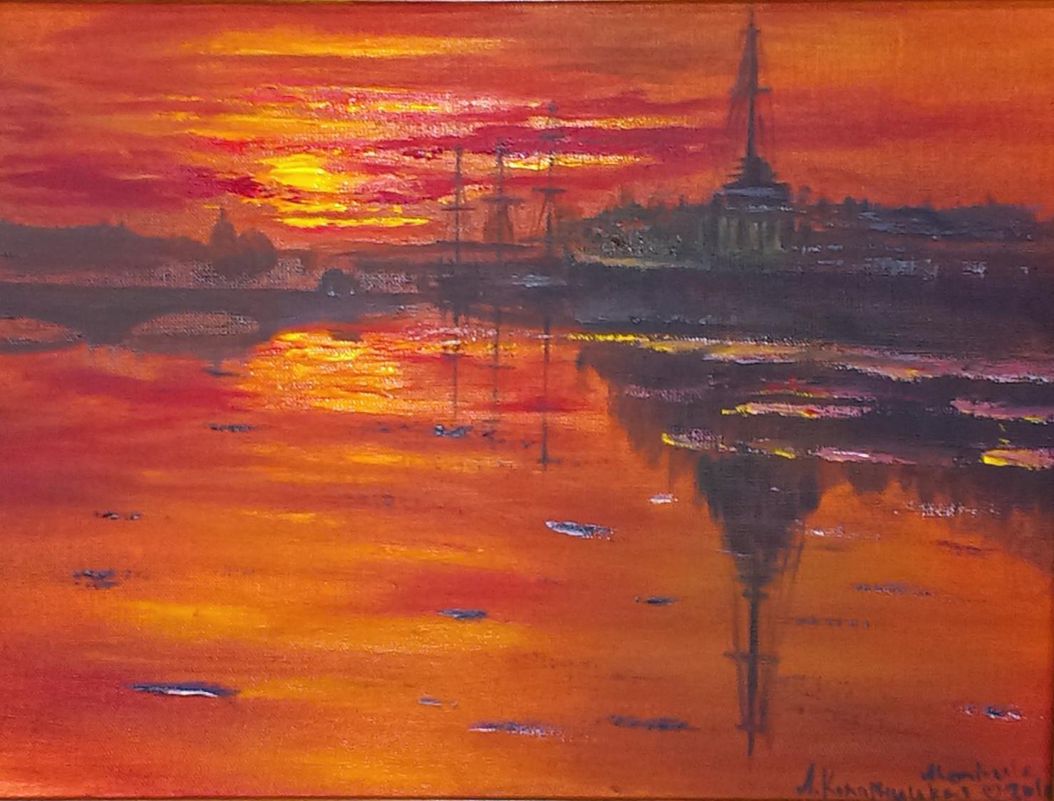 Восход на набережной Спб
